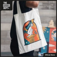 CONTENTMENT Totebag THOUGHTS TOTES White Putih