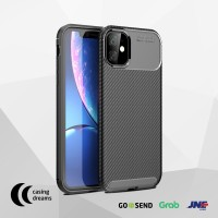 CASE IPHONE 11 PRO / 11 / 11 PRO MAX SHOCKPROOF CARBON CASING - BLACK
