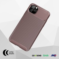 CASE IPHONE 11 PRO MAX / 11 / 11 PRO SHOCKPROOF CARBON CASING - BROWN