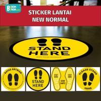[READY] Sticker Lantai Corona New Normal