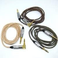 TERMURAH HIGH END HEADPHONE CABLE AUX 8 BRAID SILVER PLATED M2M