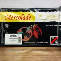 Mercolade Premium Dark Chocolate Compound 1000 Gr / Cokelat Batangan