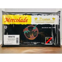 Mercolade Premium White Chocolate Compound 1000 Gr / Cokelat Batangan