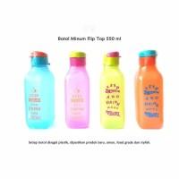 Botol Minum Flip Top Segi 550 ml /eco bottle food grade souvenir murah