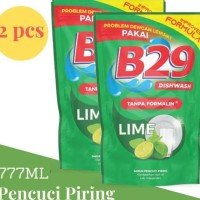 B29 Liquid Dishwash 777Ml X 2 Pcs Sabun Cair Pencuci Piring Aroma Lime