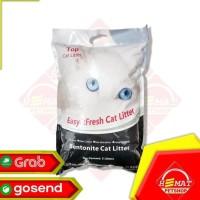 Terlaris Pasir Kucing Top Cat Litter Bentonite 5 Litter / Gumpal Wangi