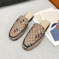 Sandal Wanita Branded SSH12 Mickey GC Half Sneakers Slip On Impor Tren