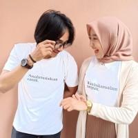 couple kaos murah baju pasangan serasi tumblr tee polos SALAM Putih