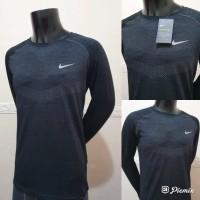 Kaos Running Nike Men's Dri Fit Knit Lengan Panjang KAOS OLAHRAGA BARU