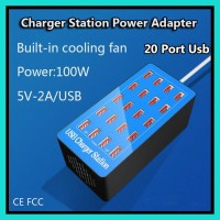 Charger Station 20 Port Usb 20A - Smart Charger Adapter 100W A5P