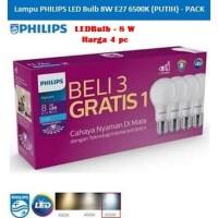 Lampu Philips LED [PACK] Bulb 8-68W E27 6500K 230V A60-MyCare (Putih)
