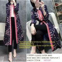 Clover Long Outer Maxi Dress Bangkok Outer Nagita