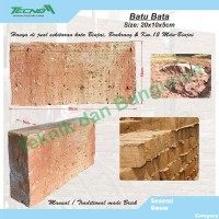 Batu Bata Size: 20x10x5cm