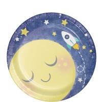 "Piring Kertas 7"" Tema To The Moon And Back - Pesta Ulang Tahun"
