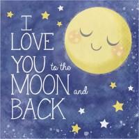 Tisu Lunch Tema To The Moon And Back - Perlengkapan Pesta Ulang Tahun