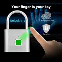 Smart Fingerprint Padlock / Gembok Sidik Jari Rumah koper pagar pintu