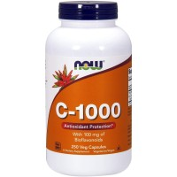 Now Foods Vitamin C 1000 250 Kapsul Vegetarian Bioflavonoid Imun Tubuh