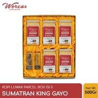 WORCAS Kopi Luwak Liar Paket Isi 5 Sumatran King Gayo - Parcel Box