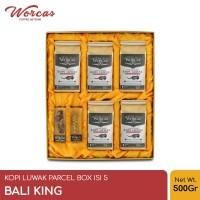WORCAS Kopi Luwak Liar Paket Isi 5 Bali King - Parcel Box