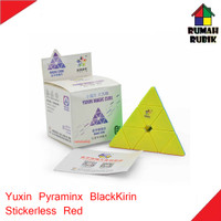 Rubik Pyraminx Yuxin BlackKirin Stickerless Red / Rubik Murah