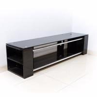 Meja TV Panjang - Meja Kabinet Televisi - Material Kaca + Aluminum