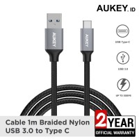 Aukey Cable 1M Braided USB 3.0 A to USB C - 500093