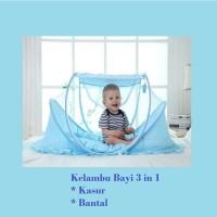 Portable Baby Bed Instant Kasur Kelambu Bayi Lipat Free Bantal Empuk
