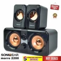 SONIC GEAR Speaker Morro 2200 - 2.2 Speaker Black. Double BASS