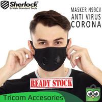 Masker N99 Carbon Filter 2 katup Masker Motor Sherlock