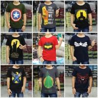 Kaos Anak Laki Laki Superhero dan Karakter Size S M L XL