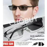 ORIGINAL Kacamata Anti Radiasi Photochromic Blue Rays UV 400