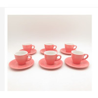 Cangkir Set Espresso Farve Pink Isi 6 Pasang