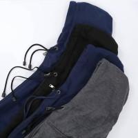 XXL - Jaket hoodie zipper polos Cotton Fleece polosan