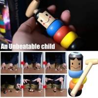 Magic Toys Wooden Mainan Pukul Palu AJAIB Unbreakable Immortal Daruma