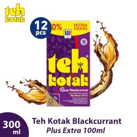 Teh Kotak 300 mL Rasa Blackcurrant (isi 12 Pcs)