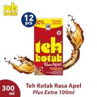 Teh Kotak 300 mL Rasa Apel (isi 12 Pcs)
