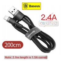 BASEUS Kabel Data iphone Fast Charging 1.5A Lightning Cafule - 2 Meter