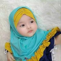 Jilbab Anak Aisyah Inner / Kerudung bayi Murah/ Alody's Collection