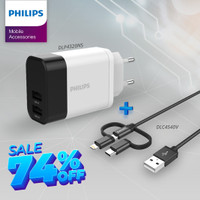 Philips Travel Essential DLP 4320NS Charger + DLC 4540 3 in 1 Cable