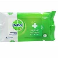 1 Pack Isi 10 Lembar Dettol Antiseptic Tissue Tisu Antiseptik Original