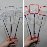 Serokan Ikan Plastik Stainless uk 7X8 / Serokan Gayung/ Serokam Gayung