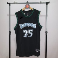 Jersey Basket Swinhman NBA Minnesota Timberwolves Derrick Rose hitam