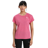 Kaos olahraga wanita Puma Active Mesh Heather Tee - 85187650