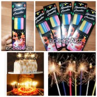 Lilin sparkling/lilin ulang tahun tinggi panjang/lilin kembang api