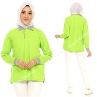 Kaos Polo Panjang STABILO KERAH ABU / Kaos Kerah Panjang / Poloshirt - Stabilo Krh Abu, S