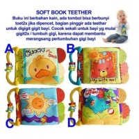 Teether Book Softbook Mainan Gigitan Bayi / Soft Book / Buku Kain / Ma
