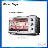 Maspion Oven Toaster MOT-2502BS MOT2502BS Kapasitas 25 Liter