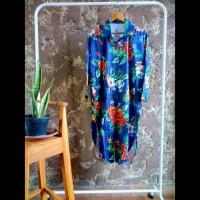 Tunik kemeja panjang gamis dress wanita floral bunga