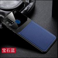 Case Samsung M31 2020 Soft Case Leather DELICATE TPU Kulit - Biru