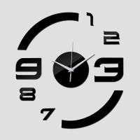 Jam Dinding DIY Giant Wall Clock Quartz Acrylic Big Number - Black